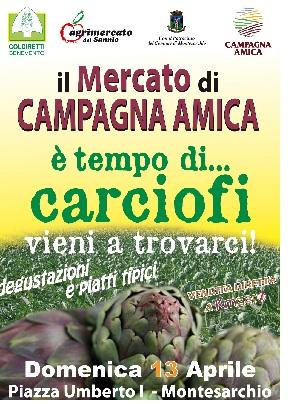 """Campagna Amica promuove l'inzativa """"E' tempo di carciofi"""" domenca a Montesarchiio"""