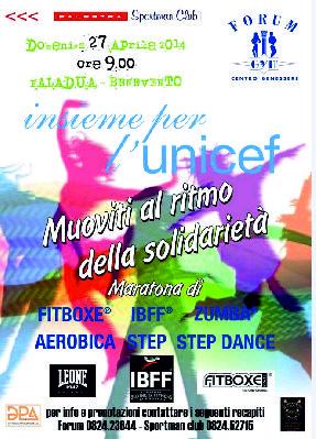 """""""Insieme per l'Unicef, Muoviti al ritmo della solidarietà"""" è il titolo dell'iniziativa sportiva che si terrà domenica al  Paladua di Benevento"""
