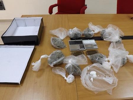 Sequestrati dalla Polizia questa mattina 500 gr di marijuana, 200 gr di hashish e 50 gr. di cocaina purissima.