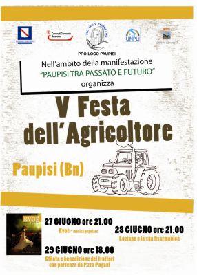 A Paupisi torna la Festa dell'Agricoltore  il 27 e 28 giugno prossimi