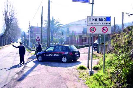 Luzzano di Moiano: rapinati due anziani  nella propria abitazione.