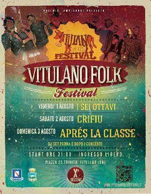 """Decima Edizione del : """"Vitulano Folk Festival"""" 1 2 e 3 agosto."""
