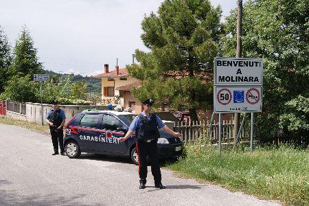 Molinara: controlli dei Carabinieri per la prevenzione dei furti e delle truffe agli anziani.