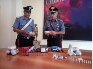Benevento, Rione Libertà: rinvenute armi e droga nascoste sotto un nido di vespe.Sequestrato un cospicuo quantitativo di stupefacente e due pistole
