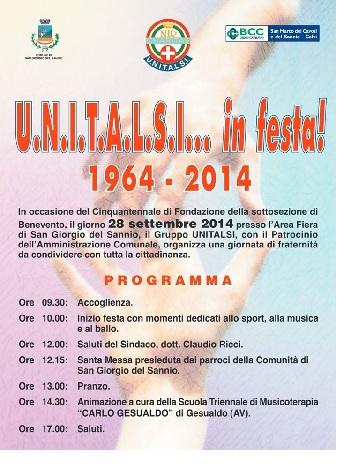 San Giorgio del Sannio: il 28 settembre 1ª giornata di fraternità UNITALSI…in festa.