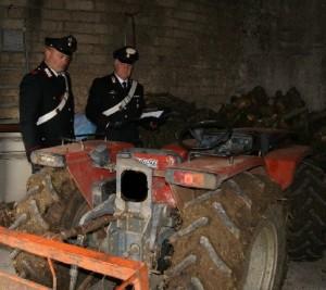 Bonea (Bn): rinvenuto trattore rubato nella notte.