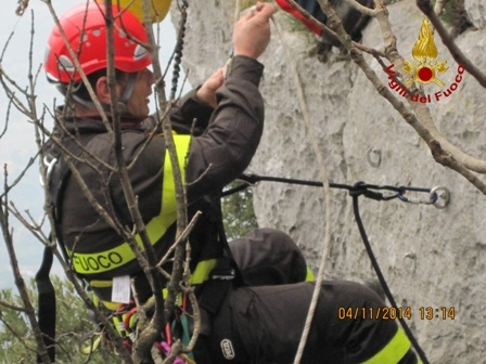 Vigili del Fuoco: concluso oggi 7 ottobre il corso SAF (Speleo Alpino Fluviale) Livello 1 B