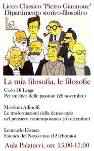 """""""La mia Filosofia, le filosofie"""": mercoledi 26 Novembre il primo incontro."""