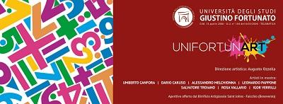 Unifortunart l'inaugurazione venerdì 28 Novembre 2014.Alla rassegna anche Leonardo Pappone.