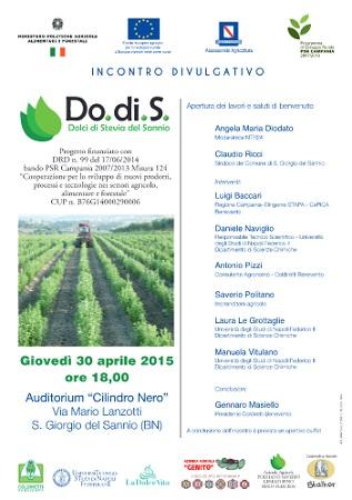 Progetto Do.di.S: A San Giorgio del Sannio il terzo incontro divulgativo sulle tecniche di coltivazione della stevia