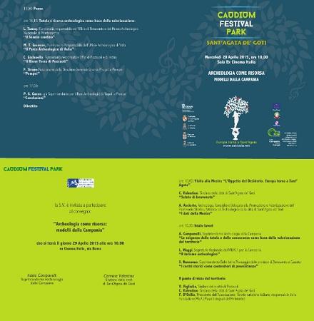 """Caudium Festival Park. """"Archeologia come risorsa: modelli dalla Campania"""". Domani il convegno."""