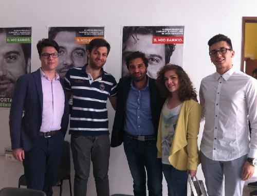 Erasmo Mortaruolo incontra una delegazione dell'associazione universitaria JEBS