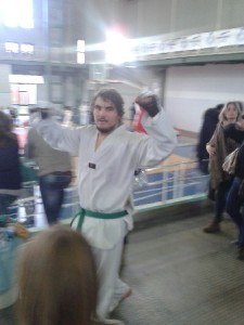 Sant'Agata de'Goti, Taekwondo: Eugenio Leonardi ai campionati universitari.