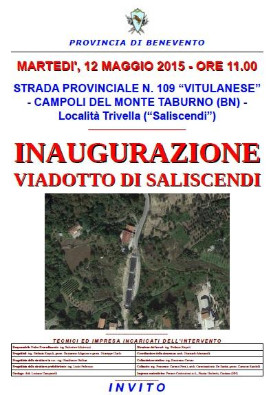 Domani l'inaugurazione del viadotto  in località Trivella a Campoli Monte Taburno