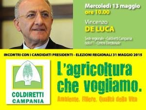 L'agricoltura che vogliamo: domani Coldiretti Campania incontra Vincenzo De Luca