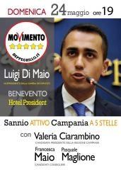 Di Maio e Ciarambino il 24 maggio incontreranno i cittadini di Benevento