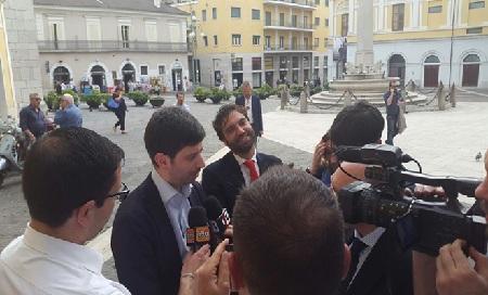 """L'on. Speranza a Benevento: """"Il Sud e la Campania hanno bisogno di persone perbene come Mino Mortaruolo"""""""