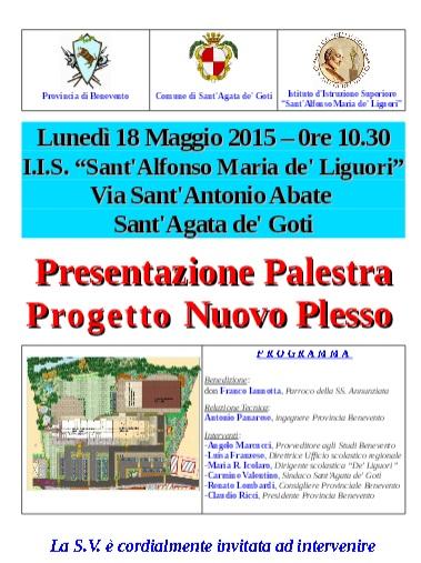 Sant'Agata de' Goti, lunedì verrà presentato il progetto del Nuovo Plesso e Palestra dell' Istituto Sant'Alfonso Maria de'Liguori