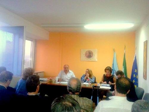 Nella foto, al centro Maria Patrizia Stasi con Maurizio Gardini e Fabiola Di Loreto