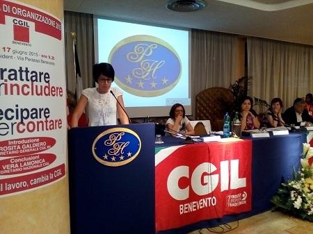 Conferenza di organizzazione provinciale della Cgil di Benevento, l'intervento di Fioravante Bosco