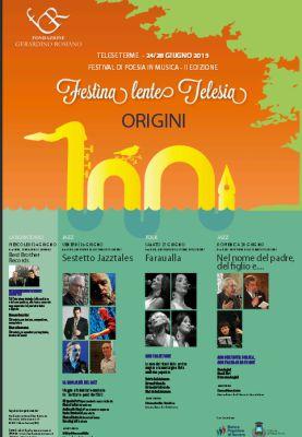 """Al via il Festìna Lente Telesia Festival di """"Poesia in Musica"""" – Seconda Edizione"""