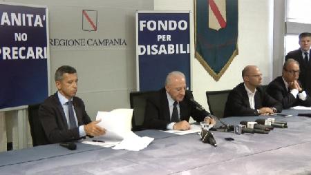 Piano Sanità, il Governatore Vincenzo De Luca annuncia due provvedimenti: fondo per le disabilità e stabilizzazione dei precari