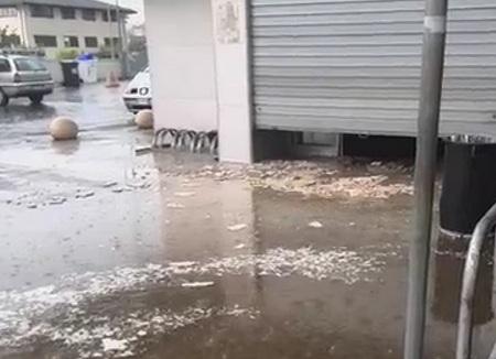 Benevento: passante ferito e supermarket allagato