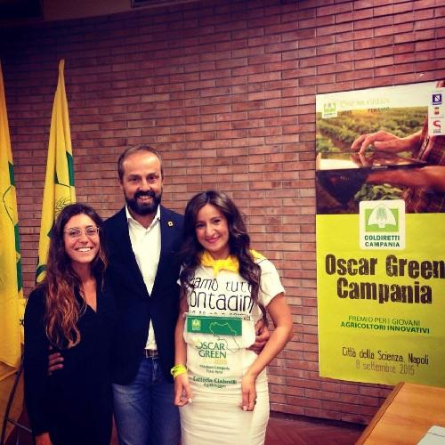 """Oscar Green 2015, alla sannita Jenni Ciabrelli il premio  nella categoria """"Fare Rete"""""""