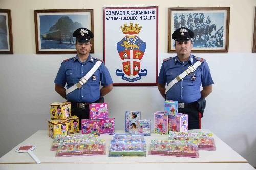 San Bartolomeo in Galdo: i Carabinieri sequestrano giocattoli contraffatti in un negozio