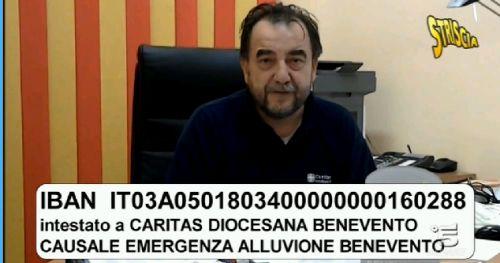 """Accorato appello di Don Nicola De Blasio a """"Striscia la notizia"""" per l'alluvione di Benevento"""