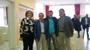 sinistra verso destra Maria Grazia Di Nunzio, segretario comunale, Antonio Morrone, maresciallo capo polizia municipale Castelpagano, Fioravante Bosco, Uil Av/Bn, e Michelino Zeoli, sindaco di Castelpagano
