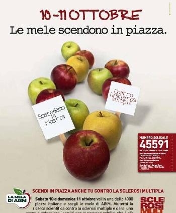 Anche a Benevento tornano le mele A.I.S.M. per aiutare la ricerca scientifica contro la sclerosi multipla