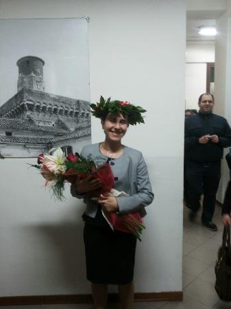 La giovanissima Natalia Borrillo si è laureata in Scienze Statistiche e Attuariali con la brillante votazione di 110 e lode