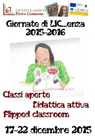 Liceo Classico P.Giannone, giovedì 17 dicembre l'avvio alle Giornate di LIC…enza
