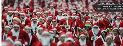 Telese Terme, domenica 20 dicembre la corsa dei Babbo Natale