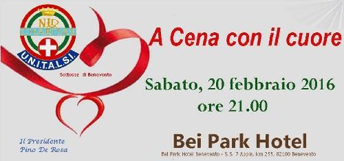 U.N.I.T.A.L.S.I. Benevento, il 20 Febbraio presso il Bei Park Hotel l'annuale cena di beneficenza