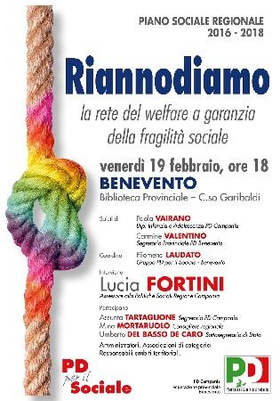 Pd: parte da Benevento il viaggio nelle province per discutere di welfare