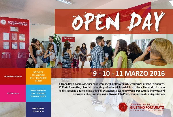 Open Day 2016 all'Unifortunato