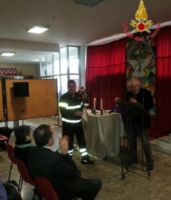 Presso il Comando Provinciale dei Vigili del Fuoco di Benevento è stato celebrato il Precetto Pasquale