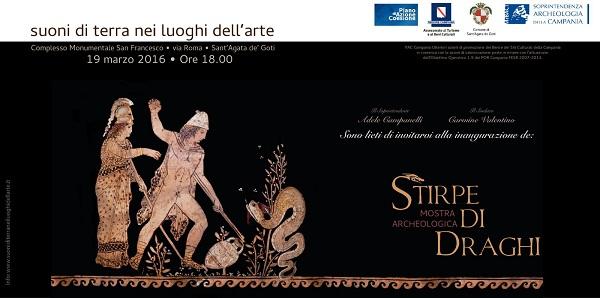 """Sant'Agata de' Goti: sabato 19 Marzo sarà inaugurata la mostra """"Stirpe di draghi"""""""