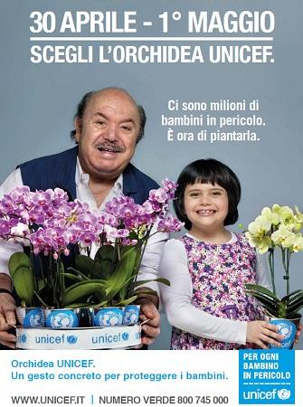 UNICEF, torna l'iniziativa dell'Orchidea il 30 aprile/1 maggio in 1.700 piazze.