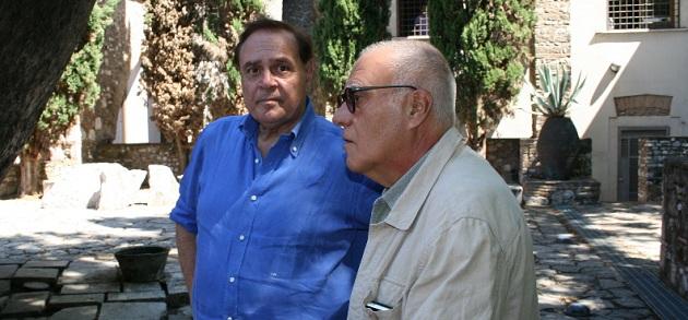 Sopralluogo all'Hortus Conclusus del sindaco Mastella e del maestro Paladino
