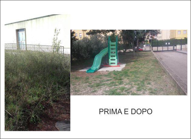 Scuola Moscati di Capodimonte ripulita e diserbata