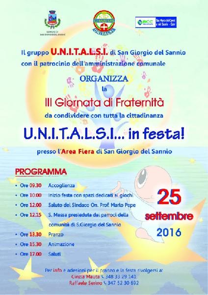Unitalsi: giornata di fraternità a San Giorgio del Sannio
