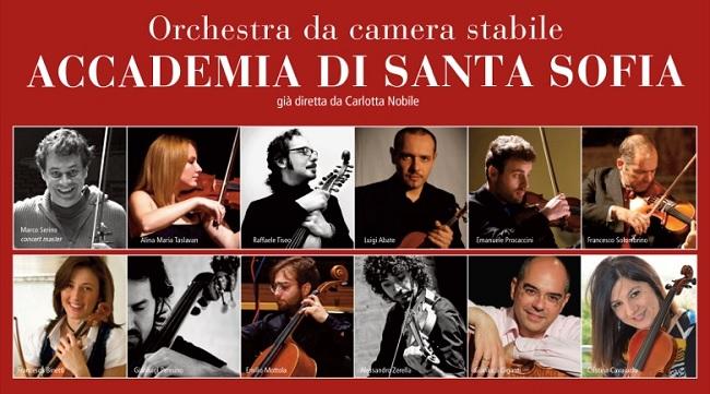 L'Accademia di Santa Sofia il 30 novembre presenta la Stagione Concertistica