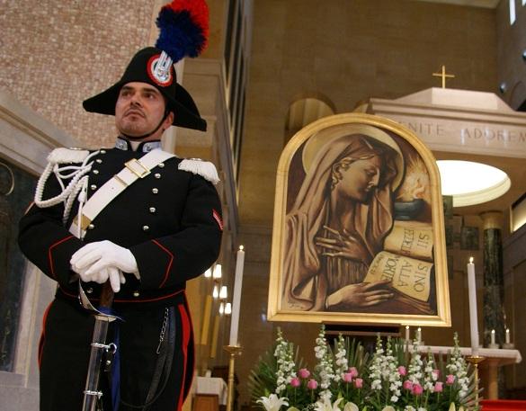 """Lunedì 21novembre celebrazioni della """"Virgo Fidelis"""", Patrona dell'Arma dei Carabinieri"""