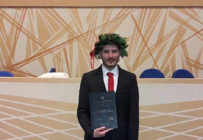 Si è laureato in Scienze per l'investigazione e la sicurezza Raffaele Falocco