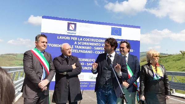 """Inaugurazione strada a Castelpagano. Mortaruolo: """"La Regione sta investendo sulla sicurezza stradale"""""""