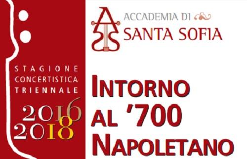 """Accademia Santa Sofia: nuovo concerto il 22 Aprile """"Intorno al '700 Napoletano"""""""