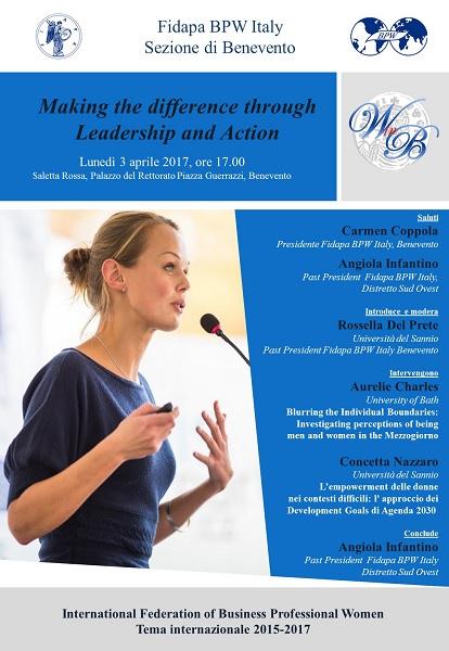 "Fidapa. Lunedì 3 Aprile incontro su ""Making the difference through Leadership and Action"""